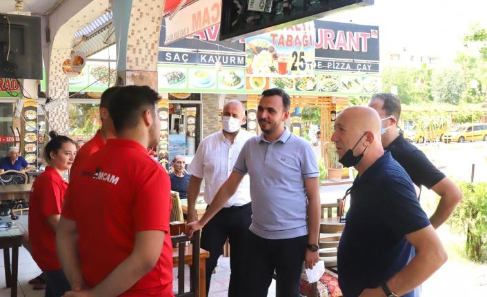 Ak Parti'den Otogar esnafına ziyaret