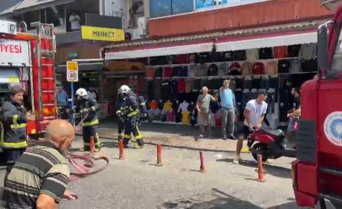 Alanya Cuma Pazarı'nda yangın paniği