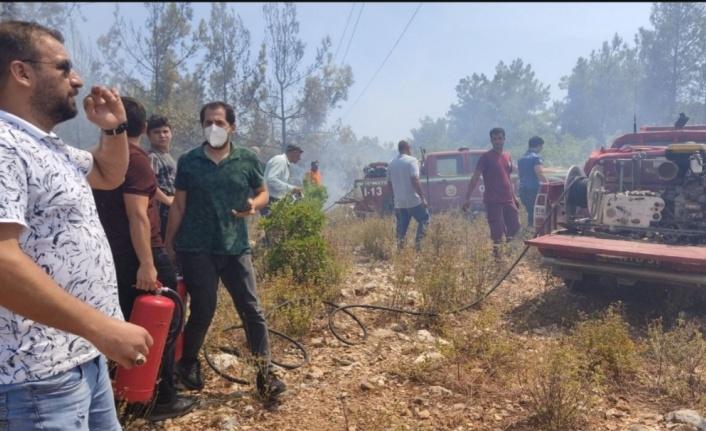 Alanya'da iki ayrı noktada orman yangını