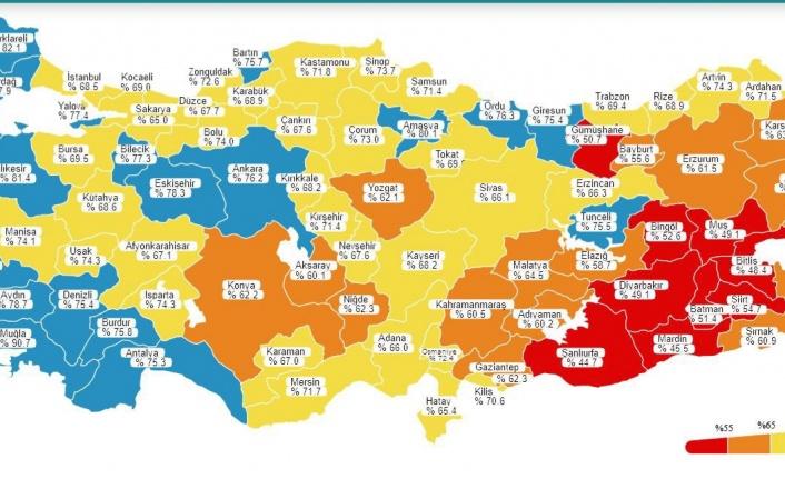 Antalya aşı haritasında maviye döndü