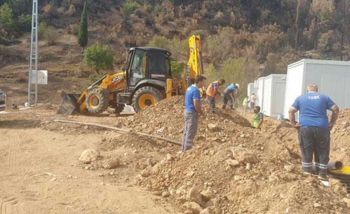 ASAT konteyner evlerin alt yapı çalışmasını yaptı