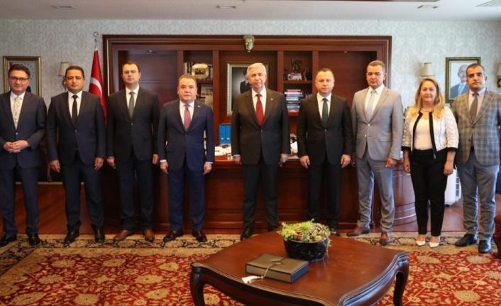 Böcek Ankara'da THK işbirliği ön protokol toplantısına katıldı