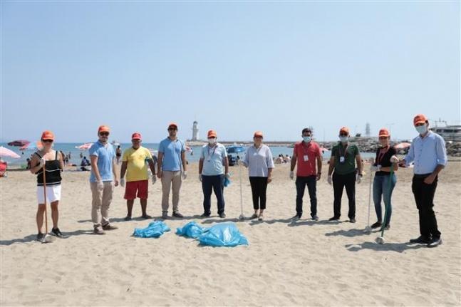 Deniz çöpleri izleme programı Alanya'da uygulandı