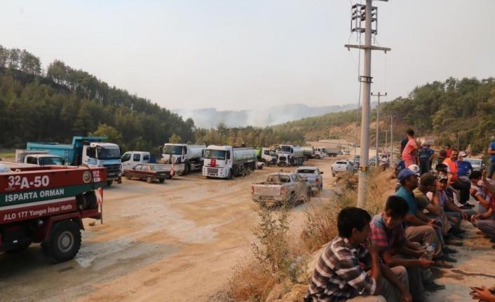 Manavgat'ta orman yangını 6'ncı gününde devam ediyor