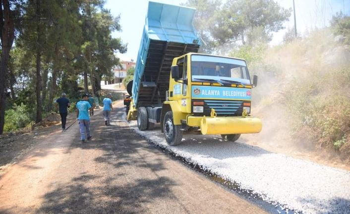 Okurcalar ve Türkler mahallesinde asfalt tamamlandı