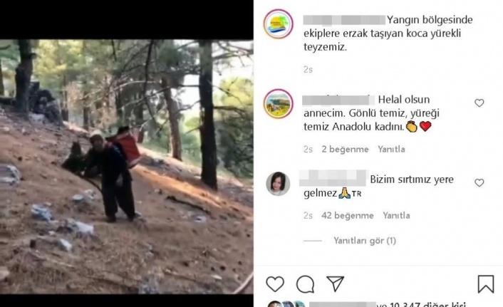 Ormancılara sırtında taşıdığı erzakla Türkiye'yi duygulandıran Durdu Teyze konuştu