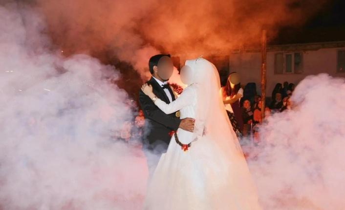 Pozitif gelinin düğünü mahallelinin kabusu oldu