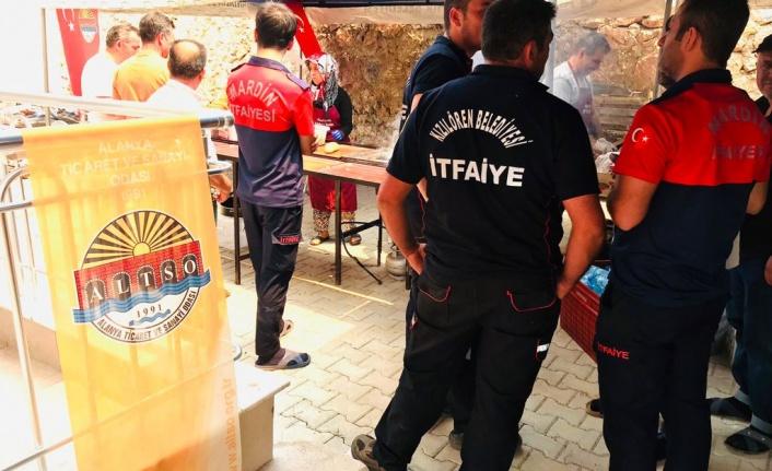 Şahin, Gündoğmuş'da yiyecek ve içecek standı açtı