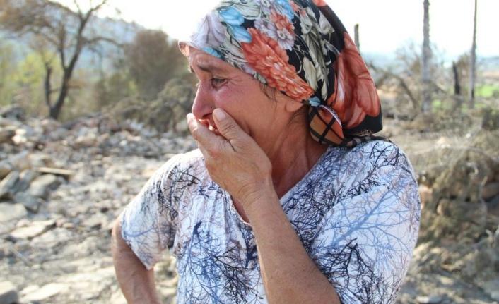 Yangınla boğuşan kardeşine yardıma gitti, döndüğünde evi ve koyunlarını yanmış halde buldu
