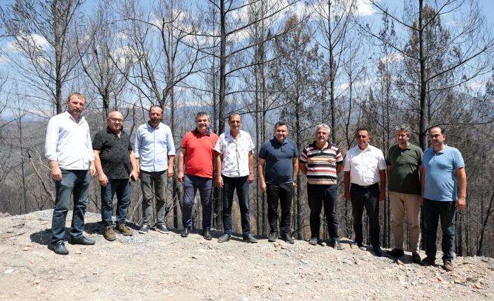 Yücel, Alanya ve Gündoğmuş'un yangın bölgelerinde