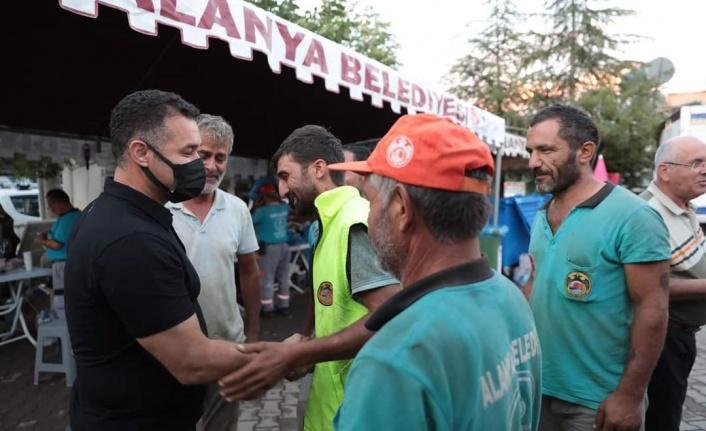 Yücel'den Susuz'daki ateş savaşçılarına teşekkür ziyareti