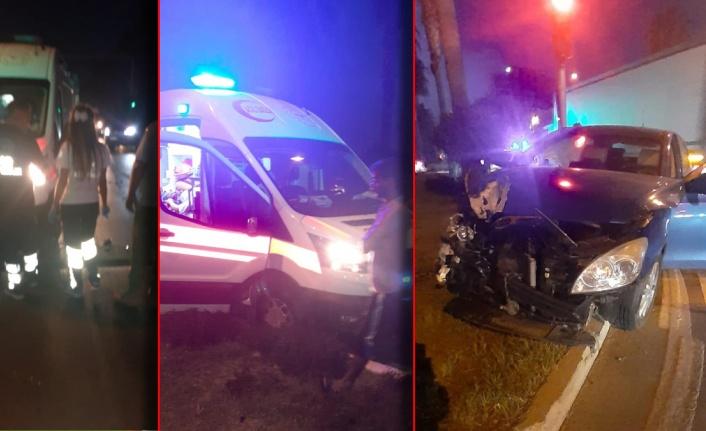 Alanya'da kırmızı ışıkta geçen ambulans yeşilde geçen araçlara çarptı