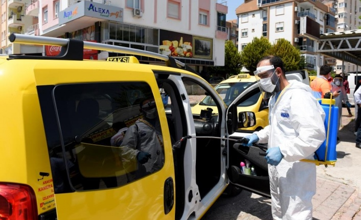Servis ve taksilere ücretsiz dezenfekte