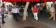 YÜCEL'DEN ÇARŞI ESNAFINA ZİYARET