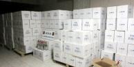 Alanya#039;da 7 bin şişe kaçak içki yakalandı