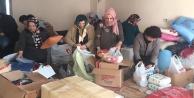 AKP'li kadınlardan Halep'e yardım