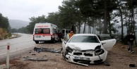 iki ayrı trafik kazası: 1si ağır 6 yaralı