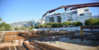 Teleferiğin istasyon betonu döküldü