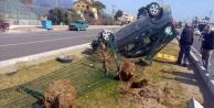 Araç takla attı: 1 yaralı
