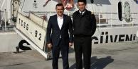Başkan Yücel#039;den yüzbaşı ziyareti