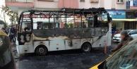 Otel servisi yandı personel ölümden döndü