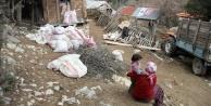 22 evin zarar gördüğü heyelanda 2 oğlak telef oldu