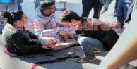 Alanya#039;da feci kaza: Kanlar içinde yerde kaldı