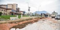 Alanya#039;nın yeni hastanesinde yol çalışması