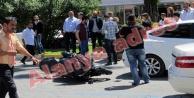 Motosiklet kazası Alanya#039;da trafiği felç etti