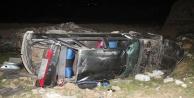Otomobil 25 metre yüksekten uçtu: 6 yaralı