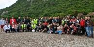250 motorcu aynı yerde kamp yaptı