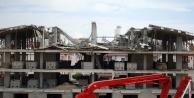 5 katlı inşaatın çatısı çöktü