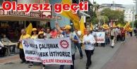 Alanya'da İşçi Bayramı coşkusu