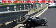 Alanya#039;da kaza: Motosiklet bariyerlere çarptı