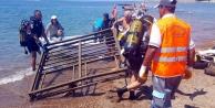 Deniz#039;den 80 kiloluk iskele demiri çıkarıldı