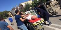 Araç takla attı 1 kişi yaralandı