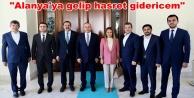 Bakan Çavuşoğlu'nu ziyarete gittiler