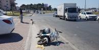 Otomobil motosiklete çarptı: 1 yaralı var