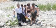 Kanyonda suya atlayan turistin ayağı kırıldı