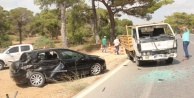 Otomobil kamyonetle çarpıştı: 1 yaralı var
