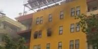 Alanya#039;da otelde korkutan yangın