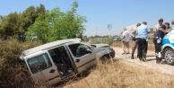 Alanya yolunda kaza: Otomobil şarampole yuvarlandı