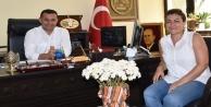 Bayan il başkanından Yücel#039;e ziyaret