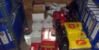 113 şişe kaçak içki ele geçirildi
