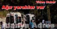 Alanya#039;da feci kaza: Safari jeepi takla attı