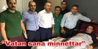 Alanya#039;daki terör gazisini onurlandıran ziyaret