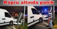 Alanya#039;nın yeni köprülü kavşağında ilk kaza