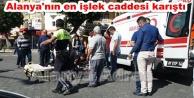Alanya#039;da motosiklet kazası! 1 ağır yaralı var