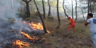 Alanya#039;da temel atma töreninde yangın çıktı