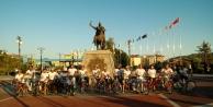 Alanya#039;daki fuara bisikletli tanıtım